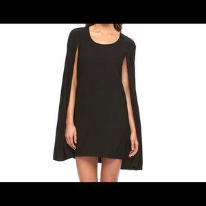 Allen B black cape dress:M